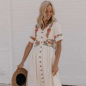 Ithaca Embroidered Dress (Roolee)
